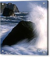 Waves Breaking On Shore Acrylic Print