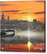Wawel Sunrise Krakow Acrylic Print