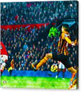 Wayne Rooney Of Manchester United Scores Their Second Goal Acrylic Print