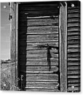 Weathered Door With Hanging Chain Acrylic Print