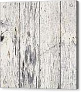 Weathered Paint On Wood Acrylic Print