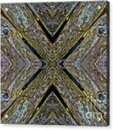 Weathered Wood Tiled IIi Acrylic Print
