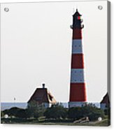 Westerhebersand Lighthouse - North Sea - Germany Acrylic Print