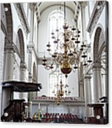 Westerkerk Interior In Amsterdam Acrylic Print