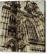 Westminster Abbey London Vintage Acrylic Print