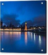 Westminster Blue Hour Acrylic Print
