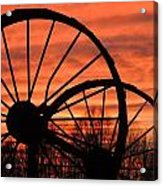 Wheel-n-axle Sunset.. Acrylic Print