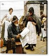 When The Boats Are Away Acrylic Print by Walter Langley