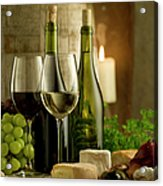 White And Red Wine In A French Style Acrylic Print