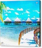 White Bay Acrylic Print