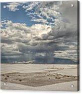 White Sands Rain Acrylic Print