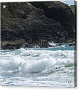 White Surf Acrylic Print