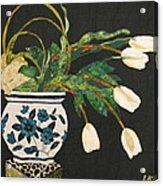 White Tulips Acrylic Print by Lynda K Boardman