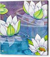 White Water Lilies Acrylic Print