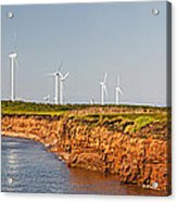Wind Turbines On Atlantic Coast Acrylic Print