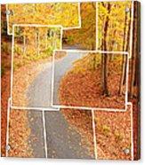 Winding Alley In Fall Acrylic Print