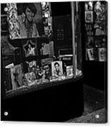 Window Display Night Of Elvis Presley's Death Recordland Portland Maine 1977 Acrylic Print