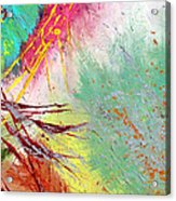 Modern Abstract Diptych Part 2 Acrylic Print