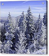 Winter Along The Highland Scenic Highway Acrylic Print