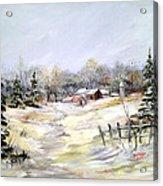Winter At The Farm Acrylic Print
