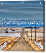 Winter Farmland Acrylic Print