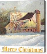 Winter Hush Holiday Card1 Acrylic Print