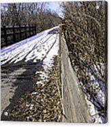 Winter On Macomb Orchard Trail Acrylic Print