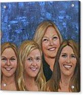 Winters Women Acrylic Print by Deborah Allison
