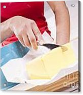 Woman Cooking Acrylic Print
