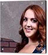 Woman Red Hair Acrylic Print