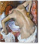 Woman Sponging Her Back Acrylic Print