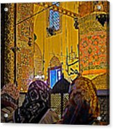 Women At Rumi's Mausoleum In Konya-turkey  Acrylic Print