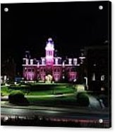 Woodburn Hall At Night Acrylic Print