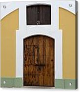 Wooden Door At El Morro Historical Site Acrylic Print