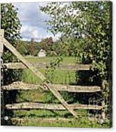 Wooden Gate Sussex Uk Acrylic Print