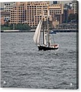 Wooden Ship On The Water Acrylic Print