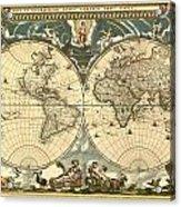 World Map Acrylic Print by Gary Grayson