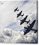 World War Two British Vintage Flight Formation Acrylic Print by Matthew Gibson