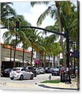 Worth Ave Palm Beach Fl Facing West Acrylic Print