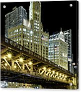 Wrigley Building At Night Acrylic Print