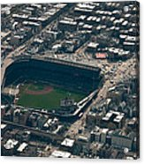 Wrigley Field From The Air Acrylic Print