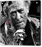 Writer Charles Bukowski On Tv Show Apostrophes In September 1978-2013 Acrylic Print