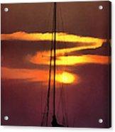 Yacht At Sunset Acrylic Print