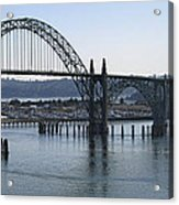 Yaquina Bay Bridge - Newport Oregon Acrylic Print by Daniel Hagerman