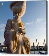Venetian Carnival. Yellow Rose Charmer By Zina Zinchik Acrylic Print