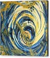 Yellow Spiral Acrylic Print