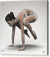 Yoga Crane Pose Acrylic Print