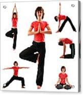 Yoga Poses Acrylic Print