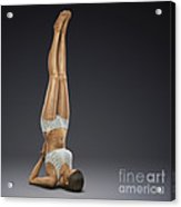 Yoga Shoulderstand Pose Acrylic Print