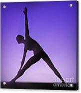Yoga Triangle Pose Acrylic Print